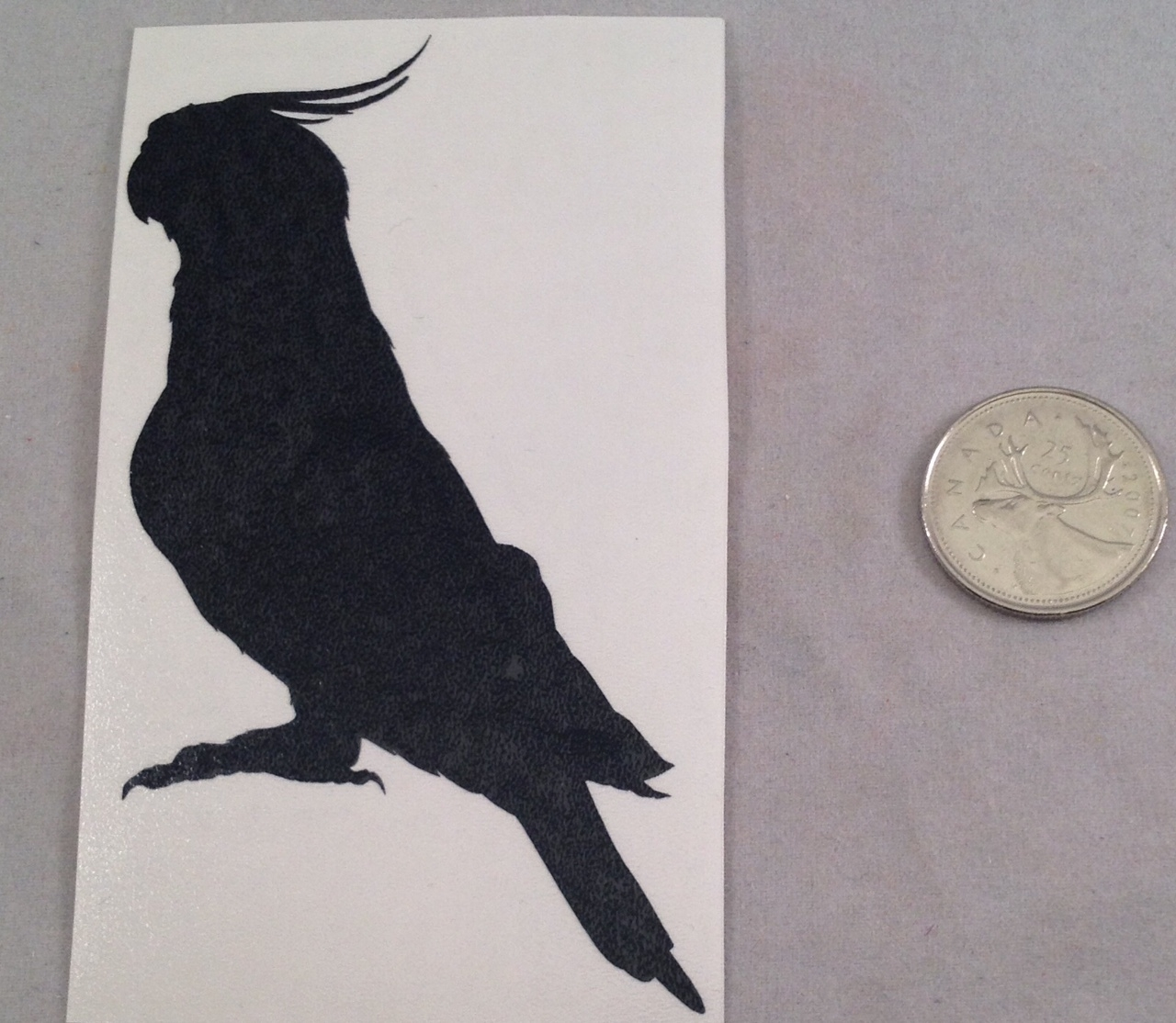 Cockatiel Silhouette Decal - Version 2