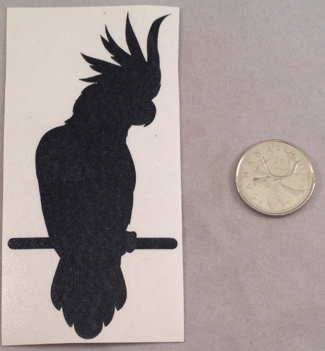 Cockatoo Silhouette Decal