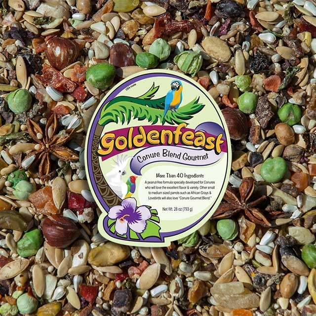 Goldenfeast - Conure Gourmet Blend - 4lb (64oz) Jar