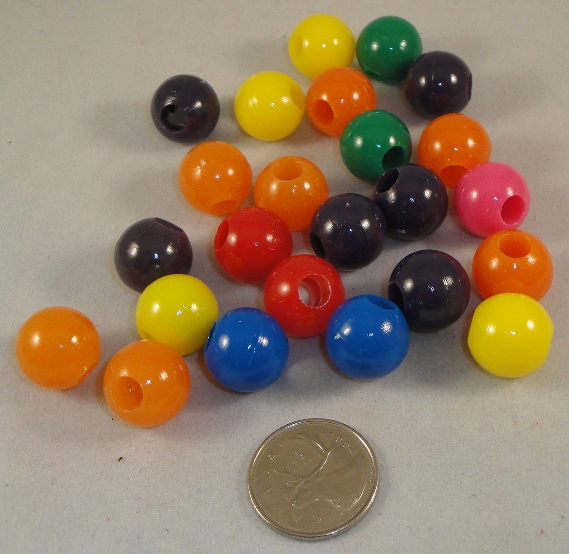 Gum Ball Beads - 24pc