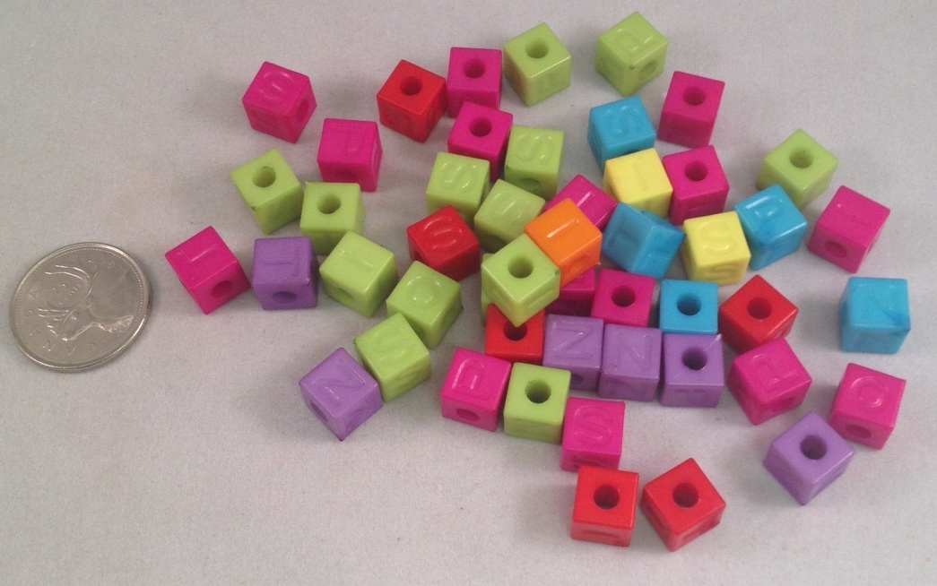 Letter Beads - Opaque - 5/16