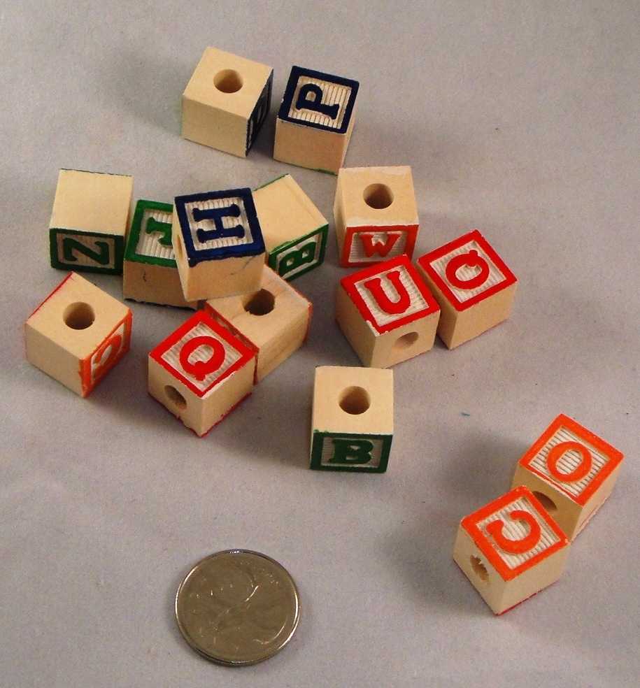 Mini Wood ABC Blocks - 15pc