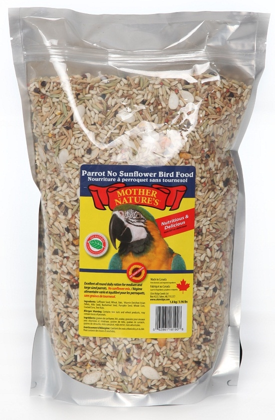 Chin Ridge Parrot (No Sunflower Seeds) - 44lb