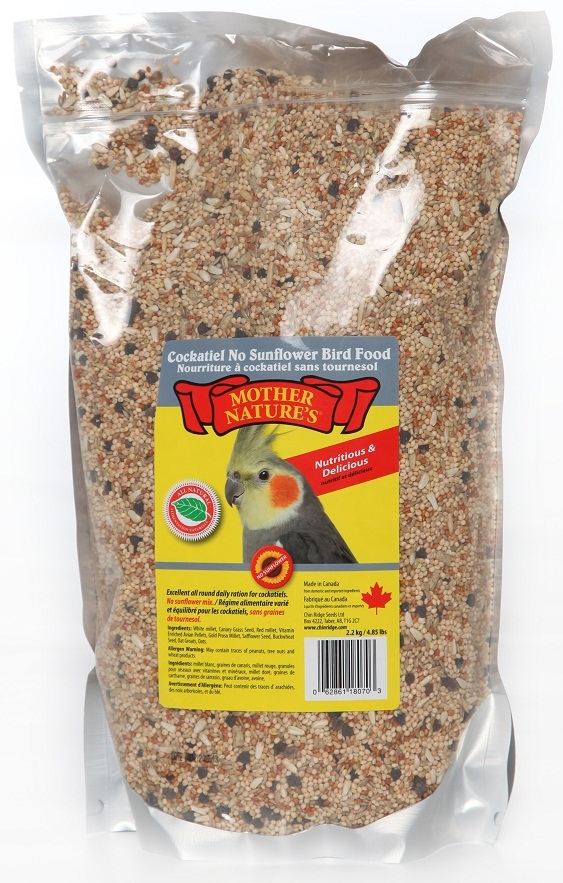 Chin Ridge Cockatiel Premium (No Sunflower Seeds) - 2.2kg