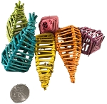 Mini Vine Maracas - Coloured - 24pc - BULK
