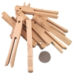 Wooden Clothespins - Natural - Large - 12pc