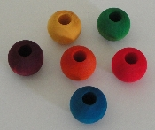 Wooden Beads - 20mm - Coloured - 24pc