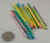 Mini Pick-Up Sticks - Coloured - 50pc - 3