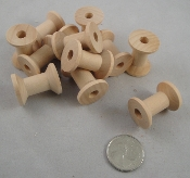Fluted Wooden Spools - Natural - 1-1/16