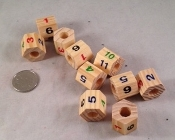 Wooden Polygon Beads - 3/4
