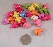 Sparkly Elephant Pony Beads - 7/8