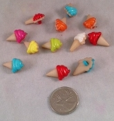 Ice Cream Cone Charms - 3/4