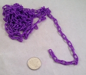 Mini Plastic Chain - Purple - 1/2