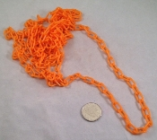 Mini Plastic Chain - Orange - 1/2