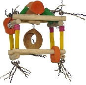 Java Wood Single Hanging Play Stand - Small