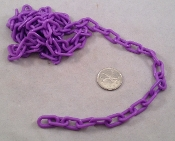 Plastic Chain - Purple - 3/4