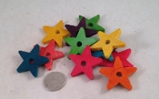 Wooden Stars - Coloured - 1-1/2