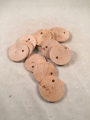 Disc Tags - Hardwood - Natural - 1-1/2
