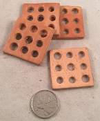 Leather Squares with 9 Hole Toy Base - 1.5