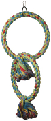 Polly's Rainbow Double Ring Swing - Small