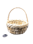 Woven Palm Basket with Handle - 5