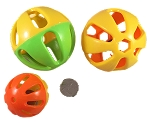 Large Two-Tone Rattle Ball