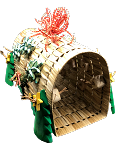 Festive Fantastic Bunny / Birdie Play Tunnel - Large - Hanging Optional!