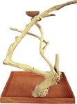 Java Wood Table Top Play Stand Stand Base and Tree - A&E - Medium - 22