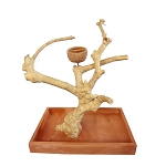 Java Wood Table Top Play Stand Stand Base and Tree - A&E - Small - 15
