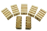 Canadian Pine BIGGER Groovy Blocks - Natural - 3.5 x 1.5 x 2