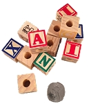 Wood ABC Blocks - 22mm (7/8