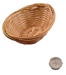 Mini Oval Bamboo Basket - 4