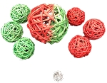 Dasher's Festive Wicker Balls - 2