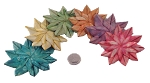 Small Palm Flowers - Coloured - 6pc