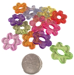 Funky Flower Beads - Big Boys - Transparent - 1-1/8