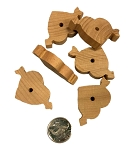 Cupid's Hardwood Hearts - 6pcs
