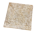 Holey Palm Mat - Natural - 12 x 12