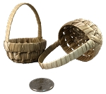 Woven Little Palm Basket with Handle - 2