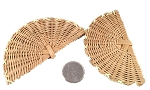 Mini Bamboo Fans - Natural - 3pc