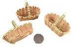 Mini Bamboo Basket - Natural - 3pc