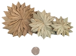 Small Palm Flowers - Natural - 6pc