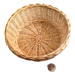 Round Willow Basket - Natural - 7