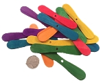 Wooden Spatulas - Coloured - 3.5