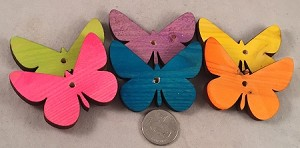"Canadian Pine Butterflies - 2.5"" x 2"" - Coloured - 6pc"