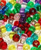 Pony Beads - Transparent - 200pc