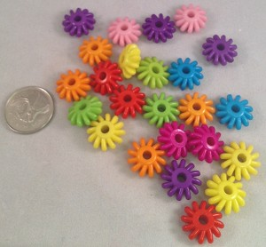 "Rainbow Spinner Beads - 5/8"" - 24pc"