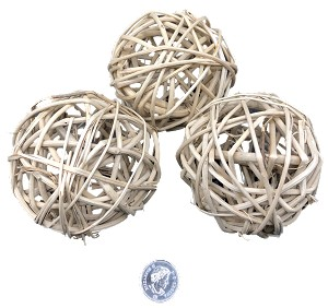 "Vine Balls - Natural - 3.25"" (8cm) - 6pc"