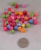 "Sparkly Cube Pony Beads - 1/4"" - 50pc"