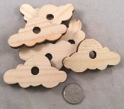 "Canadian Pine Cloud - Natural - 1.5"" X 3"" - 6pc"