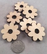 "Canadian Pine Daisies - 1.5"" x .25"" - Natural - 12pc"